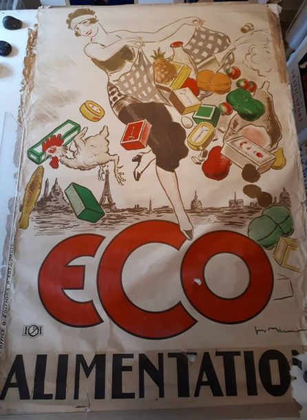 Georges MEUNIER (Paris 1869 1942).  Affiche Alimentation ECO.  Office d'éditions…