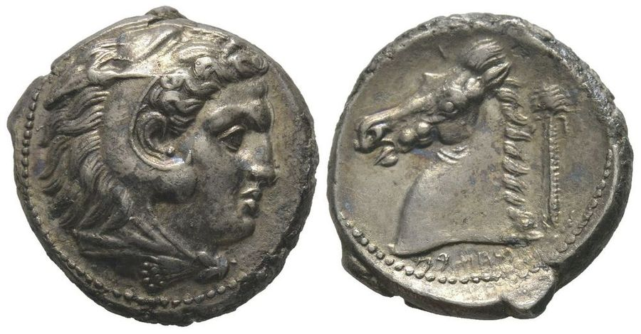 GREEK COINS Siculo-Punic  Tetradrachm, 300-289 BC, AG 16,72 g.  Ref : Jenkins, SNR…