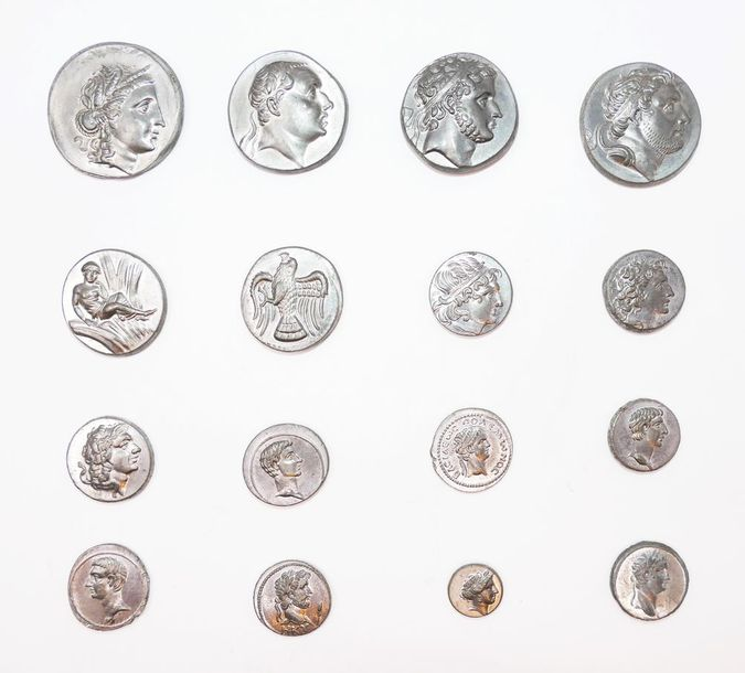 ROMAN COINS Becker counterfeits.  A collection of lead restrikes. Struck sometimes…