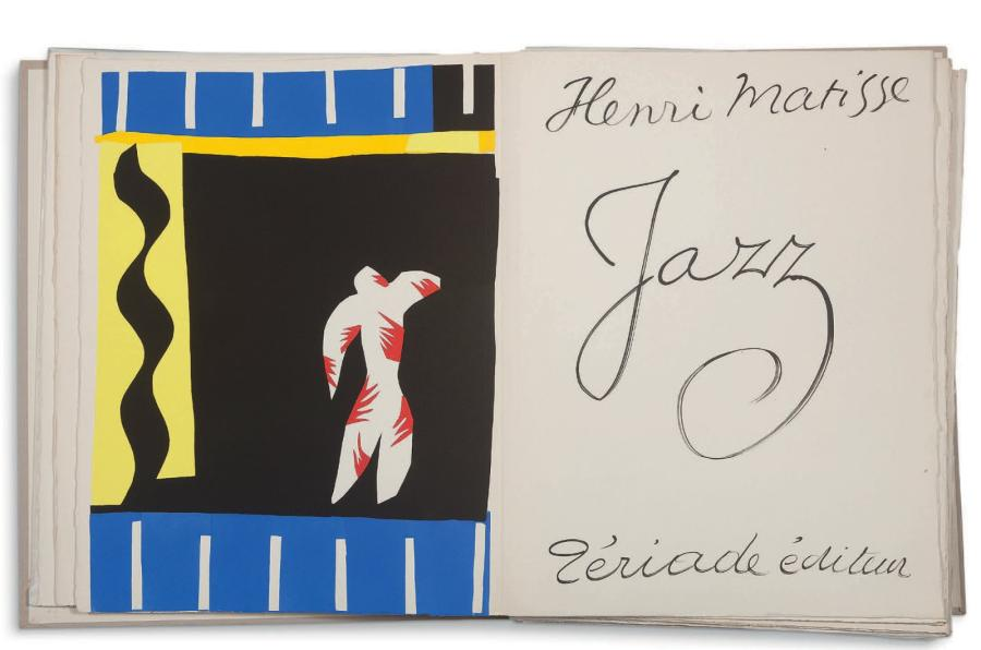 MATISSE HENRI (1869 1954) Jazz, Paris, Tériade, 1947 154 pages in folio en feuil…