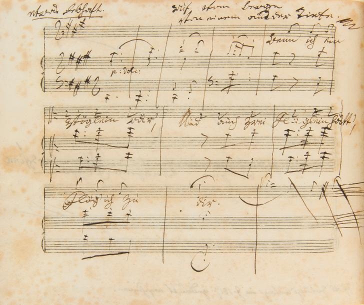 BEETHOVEN Ludwig van (1770 1827). MANUSCRIT MUSICAL autographe signé, Ruf vom Be…