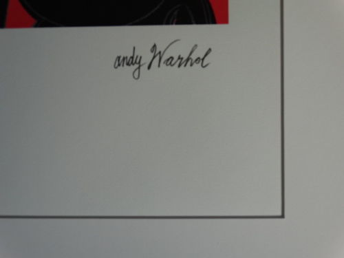 Andy Warhol, lithograph, hand numbered, 50x40cm including the mat