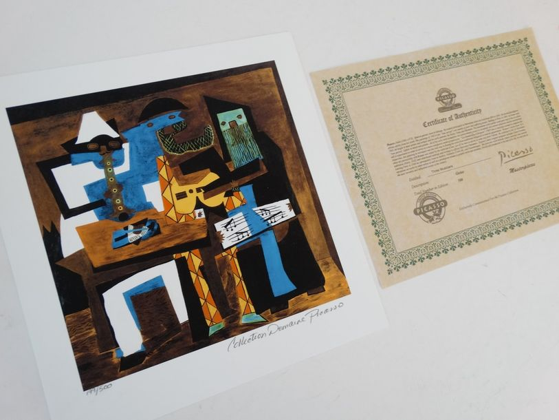 Pablo Picasso- Composition  Giclée - edition 500 ex., edition 500 copies  Signed…