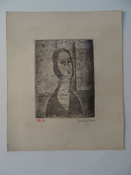 Amedeo Modigliano (attributed) gravure, pencil hand signed,circa 29x24 cm, Amedeo…