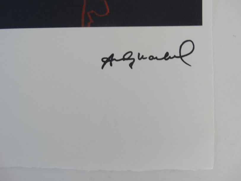 Andy Warhol, embossed seal, 56x38cm, signed in print