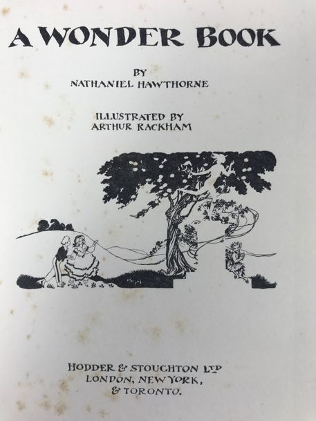 HAWTHORNE, N. A wonder book. Lond., (etc.), (1922). W. 24 tipped in cold. illustr.…