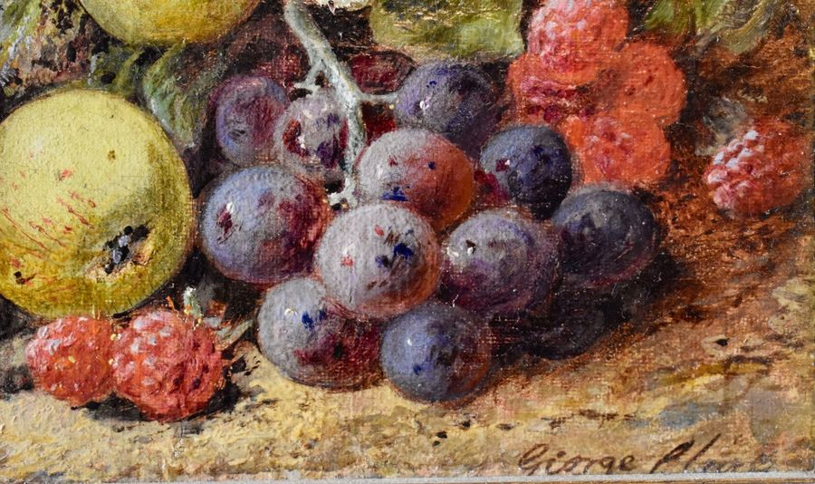 George Clare (1835 – 1900) Still life with fruits  Oil on canvas. Signed lower right…