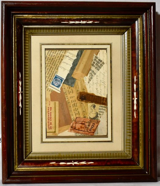 Kurt Schwitters (1887 – 1948) Anna Blume, collage on paper laid on card. Signed initial…