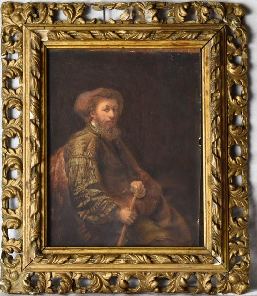 "Follower of: Rembrandt Van Rijin ""De Joodse"" The Jewish Portrait of Ephraim Bonus…"