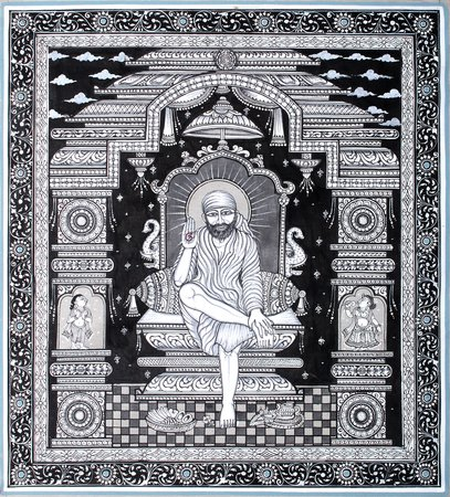 Shirdi Sai Baba Specifications:  Water Color Painting on Tussar Silk  Folk Art From…