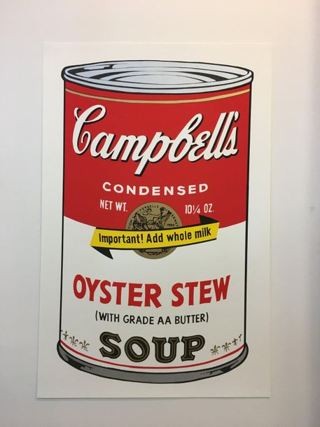 """WARHOL Andy Andy WARHOL (1928-1987)  """"Campbells – Oyster Stew""""  Sérigraphie d'après…"""