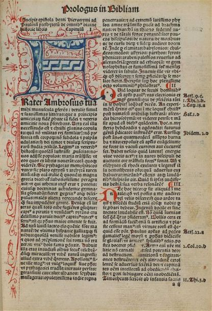 [Incunable]. [BIBLE. Latin. 1491]. Biblia integra, summata, distincta, supeme[n]…