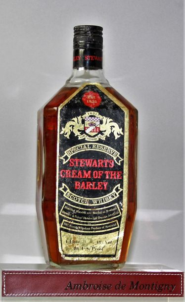 "WHISKY STEWART'S SCOTCH WHISKY ""Cream of the Barley"" Années 70 86 U.S. Proof 1 b…"