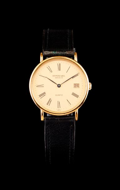 Raymond Weil Raymond Weil watch. Quartz movement with date at 3h. Gold plated case.…