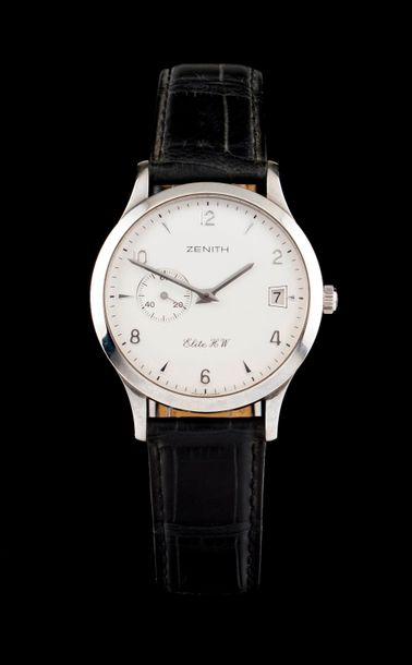 Zenith Zenith Watch, Elite model. Winding mechanical movement with date at 3h. Stainless…
