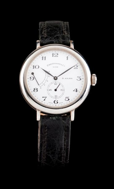 Eberhard Eberhard watch, eight day model. 8 day winding mechanical movement. Porcelain…