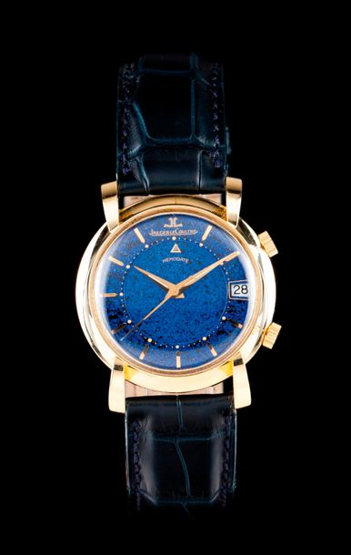 Jaeger LeCoultre Memodate model. Mechanic manual winding movement with alarm function…