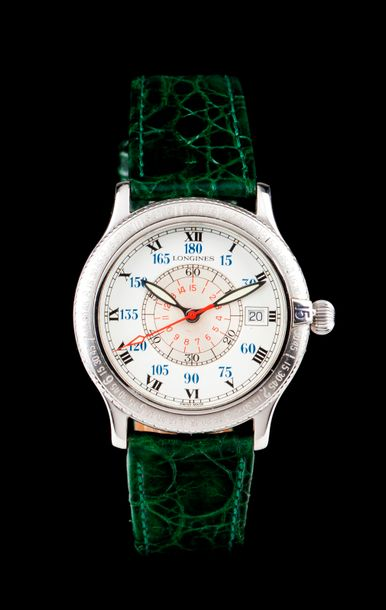Longines Lindebergh model. Mechanic automatic movement with date at 3. Steel case…