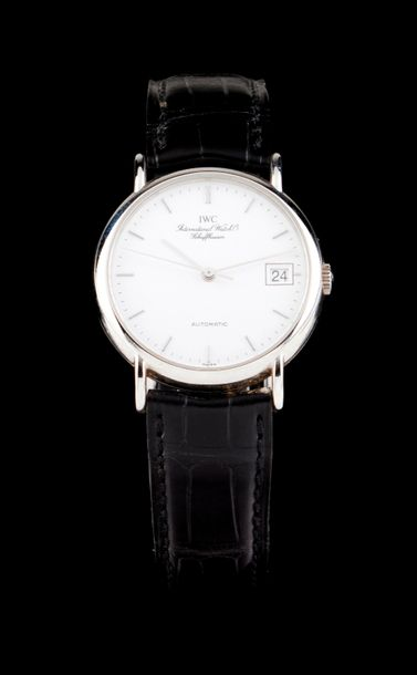 IWC IWC watch. Automatic mechanical movement with date at 3h. Stainless steel case.…