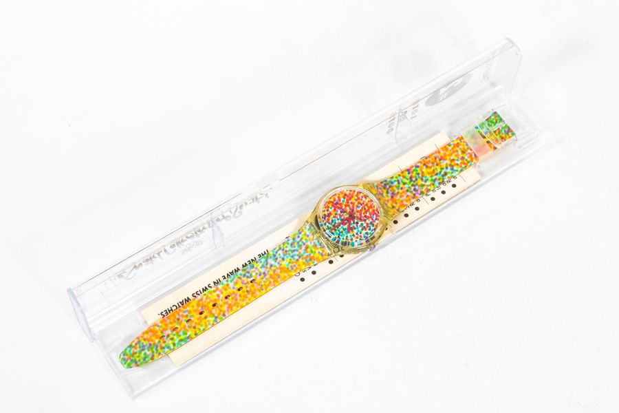 Swatch Lots of Dots The Swatch Collectors of Swatch Valise contenant un certificat…