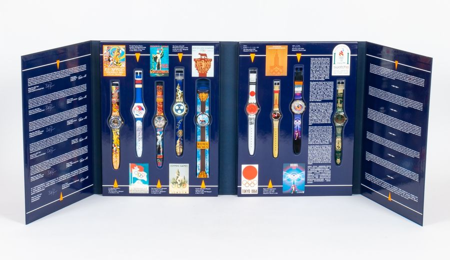 Swatch Coffret collector Atlanta 1996 Swatch Historical Olympic Games Collection.…