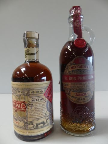 Lot de 2 bouteilles : 1 Rhum Don Papa des Philippines The Spirit of Don Papa (70…