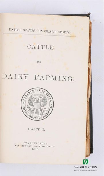 COLLECTIF - Cattle and Dairy Farming - Washington Government Printing office 1887…