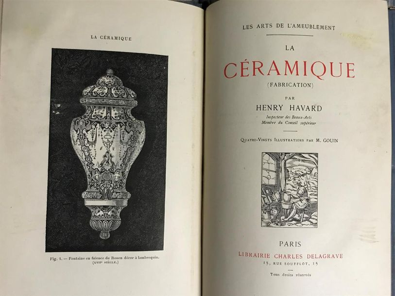 Les arts de l'ameublement.Editions Charles Delagrave, Paris. In 8 Neuf volumes, …
