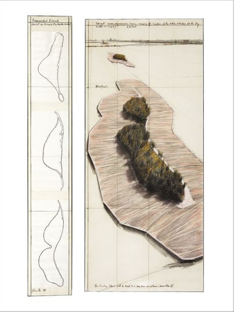 CHRISTO & JEANNE-CLAUDE Surrounded Islands (Project for Biscayne Bay, Greater Miami,…