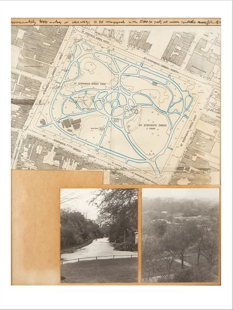 CHRISTO & JEANNE-CLAUDE Wrapped Walk Ways, 1977 Project for St. Stephen's Green Park…