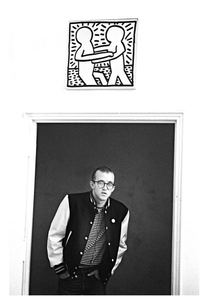 Pierre Houles Keith Haring NYC  Tirage photo d'exposition « Cannes 2000 » format…