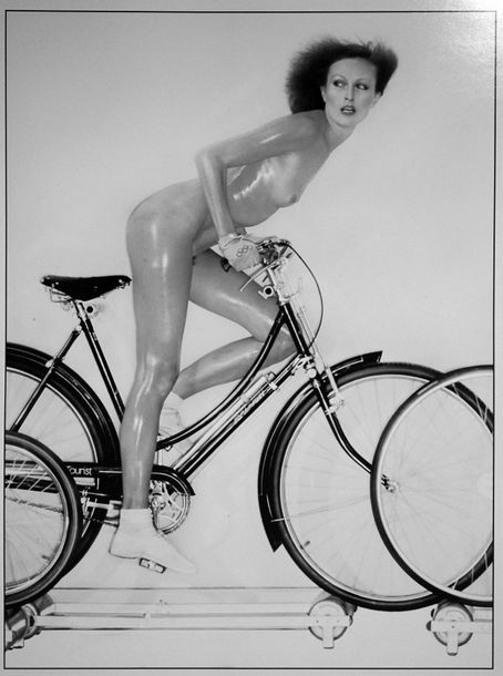 Pierre Houles Cycling 3 .  Tirage photo d'exposition « Cannes 2000 » format 40 x…