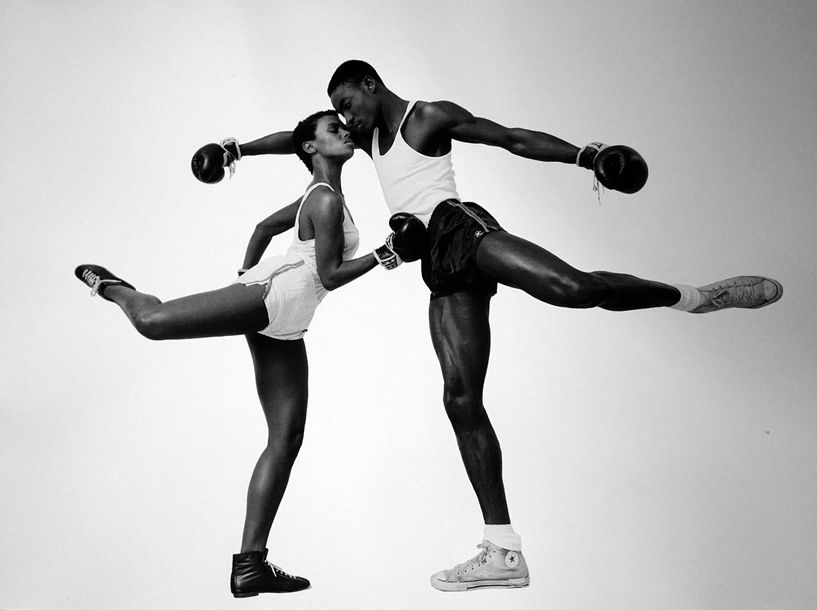 Pierre Houles Boxing  Tirage photo d'exposition « Cannes 2000 » format 50 x 70 cm…