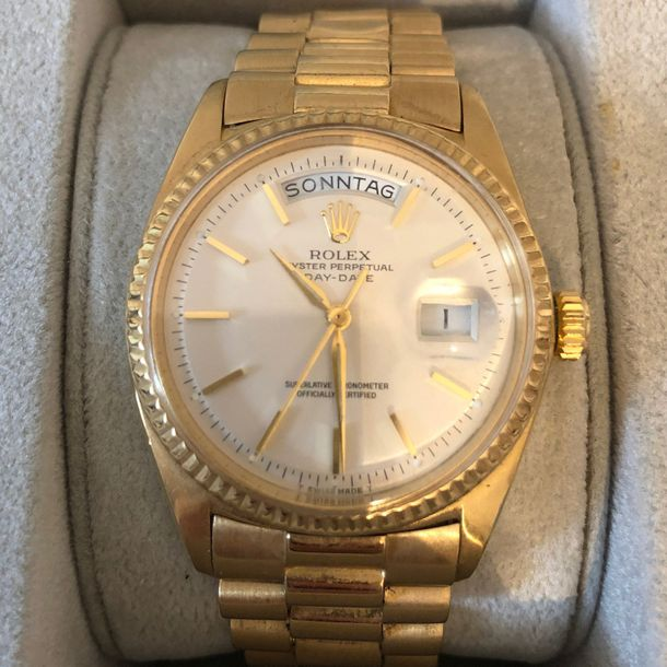 1 Montre ROLEX Day Date en or 750 Oyster perpetual, cadran 3,5cm