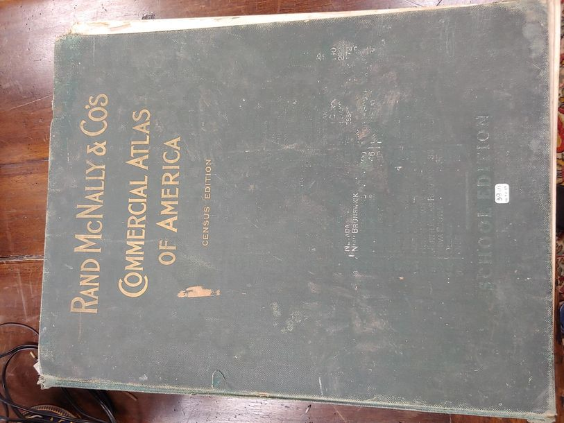 Atlas commercial America (census Edition) Rand Mc Nally et co's 1911 Traces d'humidité…