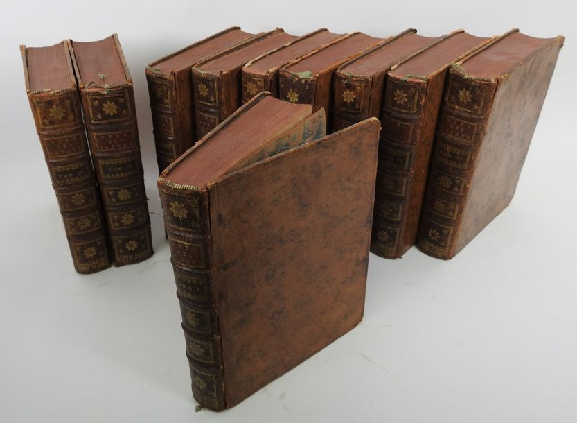 La Vie des Saints, 173910 volumes in quarto, reliure plein veau de l'époque. Bon…