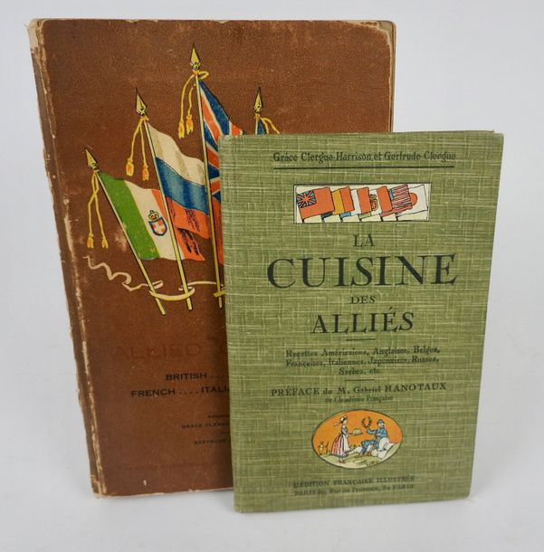 CLERGUE, Gertrude & GRACE, Harrisson. Allied Cookery. New York, Putman's Sons, 1916.…