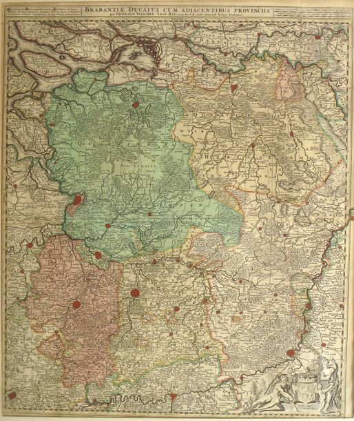 2 maps. 2 engravings, 56,5 x 86 and 49,5 x 59 cm, coloured (central foldings). F…