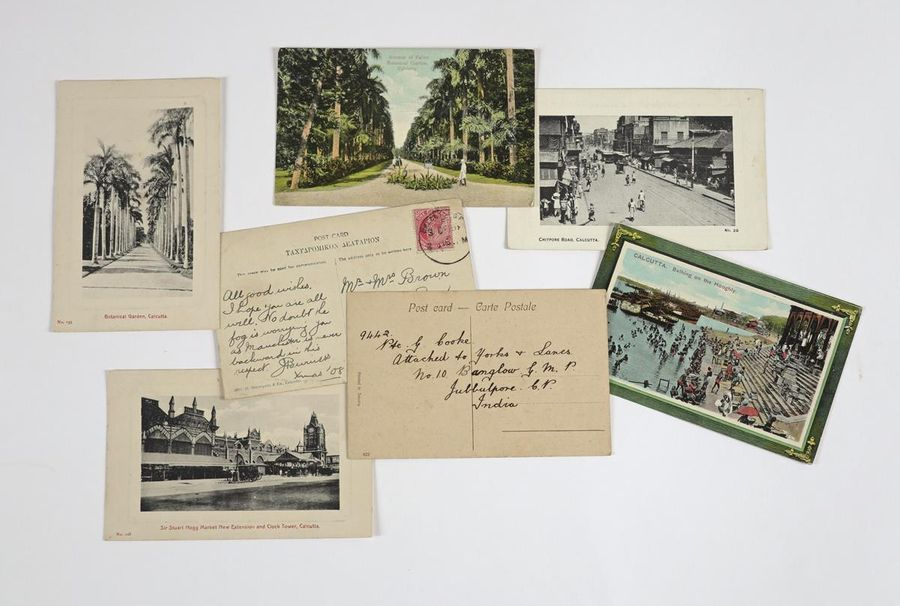 A collection of mostly early 20th century Indian postcards of Calcutta and its environs,…
