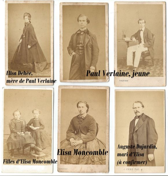 Paul VERLAINE (1844 1896), RARE ALBUM PHOTOGRAPHIQUE DE LA FAMILLE VERLAINE Paul…