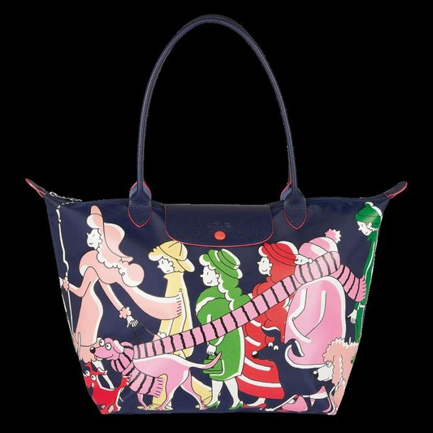 LONGCHAMP « Le Pliage » by Clo'é Floirat Toile de nylon imprimée, garniture en c…