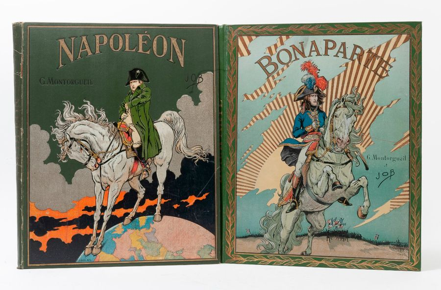 JOB - MONTORGUEIL.  Bonaparte.  Paris, Boivin, 1910, in-4, cart. édit. ill., tr.…