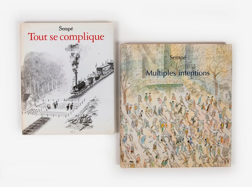 SEMPÉ, Jean-Jacques  - Multiples intentions.  Editions Denoël, Paris, 2003.  1 vol.…