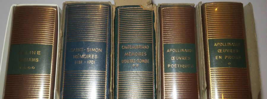 """PLEIADE (5 VOLUMES): CHATEAUBRIAND """"Mémoires d'outre tombe"""", APOLLINAIRE """"Œuvres…"""