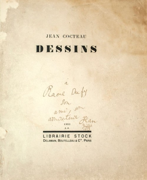 Cocteau Jean (1889 1963) «Dessins». Paris. Editions Stock. 1923. ENVOI A RAOUL D…
