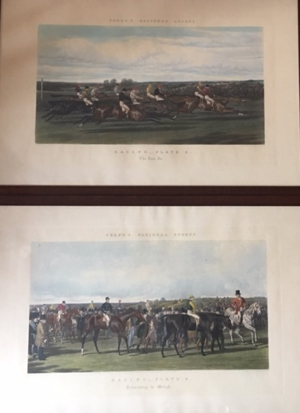 """""""Fores's National Sports"""" Gravures série Racing Plate (1-2-3-4) D'après Herring…"""