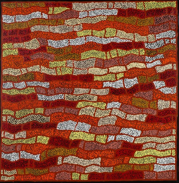 Nelly Marks Nakamarra (1976 - ) Traveling Woman, 2010 Acrylique sur toile - 125…