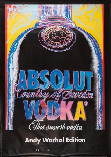 WARHOL Andy d'après. Absolut Country of Sweden. Vodka. This Superb Vodka. Andy Warhol…