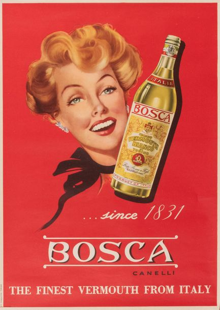 ANONYME. Bosca. Canelli… Since 1831. The finest Vermouth from Italy. Circa 1950.…