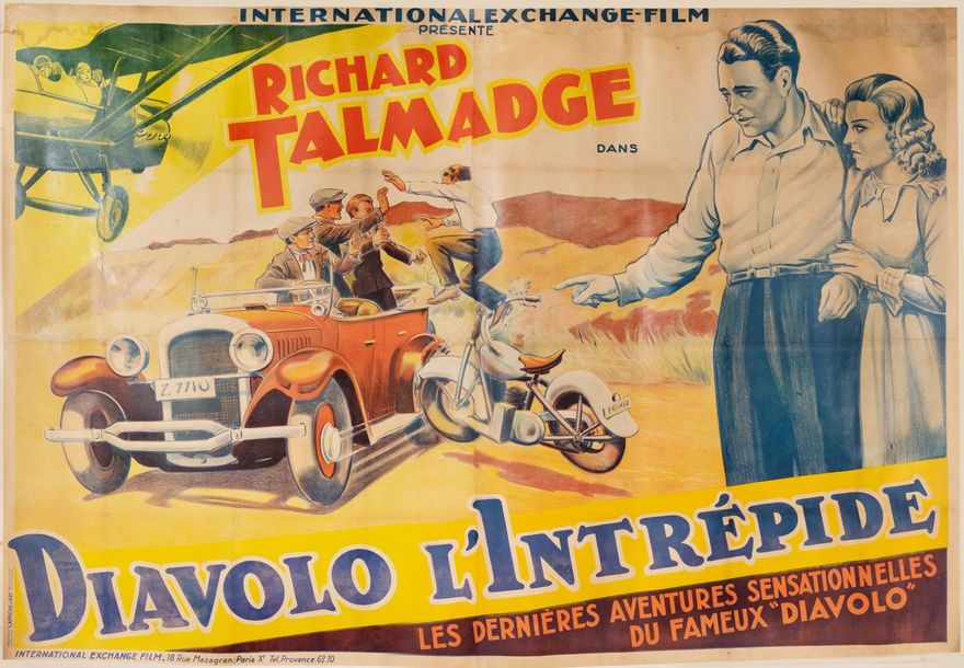 Richard Talmadge dans Diavolo l'Intrépide (The fighting pilot). Un film de Noel-Mason…